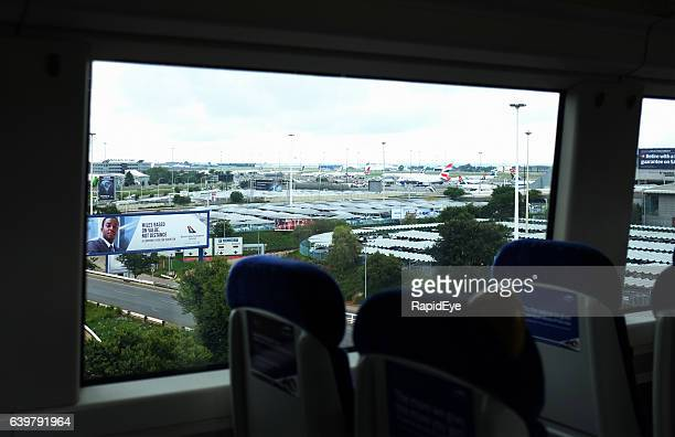 View from Johannesburg's Gautrain of OR Tambo international airport