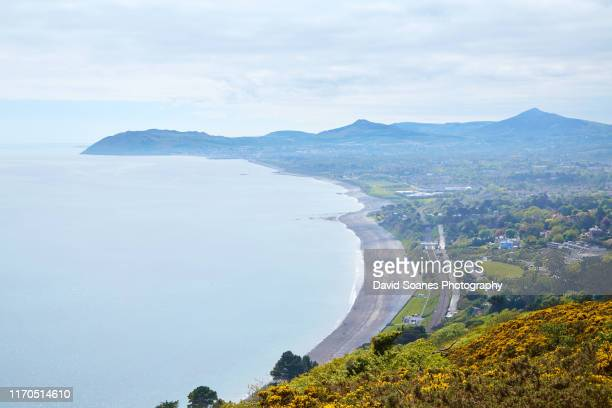 a view from killiney hill over dublin bay, ireland - david soanes stock pictures, royalty-free photos & images
