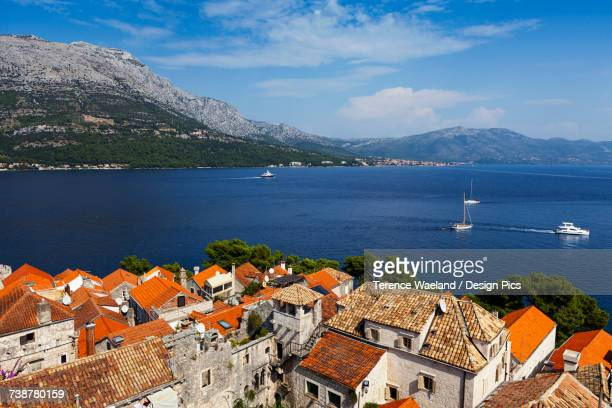 view from korcula island - terence waeland stock pictures, royalty-free photos & images