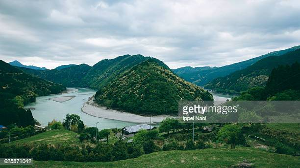 view from kumano kodo pilgrimage route, japan - mie prefecture stock pictures, royalty-free photos & images