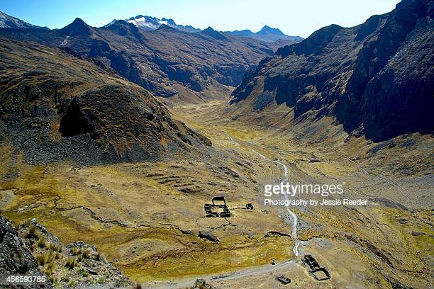 View from La Cumbre in the Andes