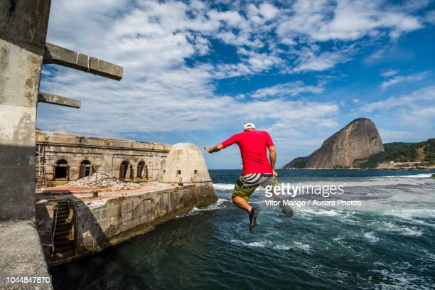 view from laje fort in guanabara bay, rio de janeiro, brazil - laje stock pictures, royalty-free photos & images
