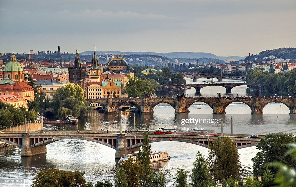 View from Letna to Prague city : Stock Photo