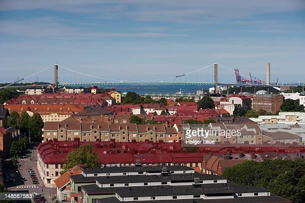 view from masthuggskyrkan church. - ヨーテボリ ストックフォトと画像