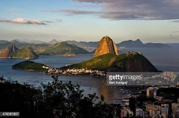 CONTENT] View from Mirante Dona Marta to the Guaranaba Bay and Botafogo Rio de Janeiro Brazil