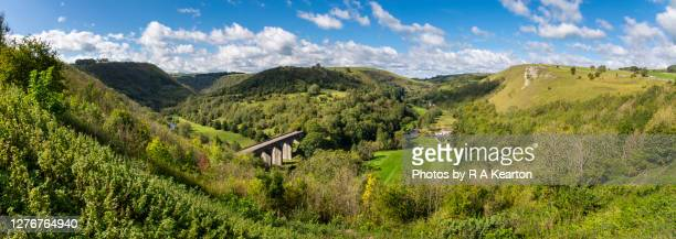 view from monsal head, peak district, england - local landmark stock pictures, royalty-free photos & images