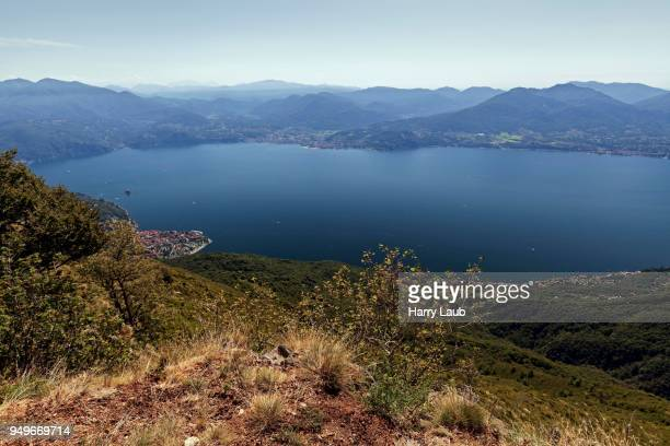 view from monte morissolo on lago maggiore, cannero riviera, verbano-cusio-ossola province, piedmont region, italy - province of verbano cusio ossola stock pictures, royalty-free photos & images