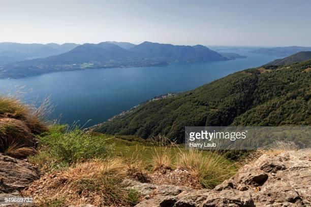 View from Monte Morissolo on Lago Maggiore, Cannero Riviera, Verbano-Cusio-Ossola province, Piedmont region, Italy