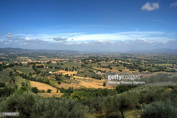 view from montefalco - モンテファルコ ストックフォトと画像