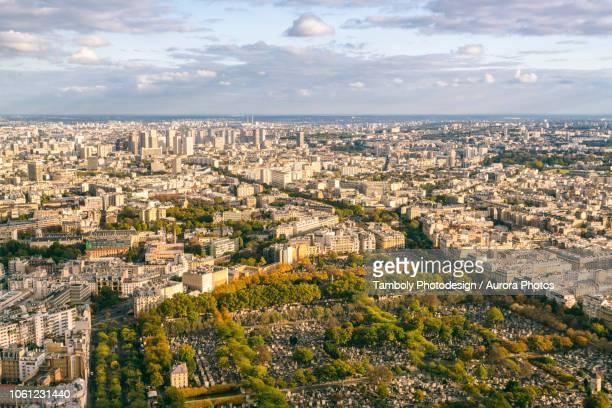view from montparnasse tower, paris, france - ile de france photos et images de collection