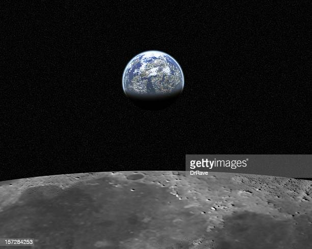 view from moon 2 (20 mega pixel) - moon surface stock pictures, royalty-free photos & images