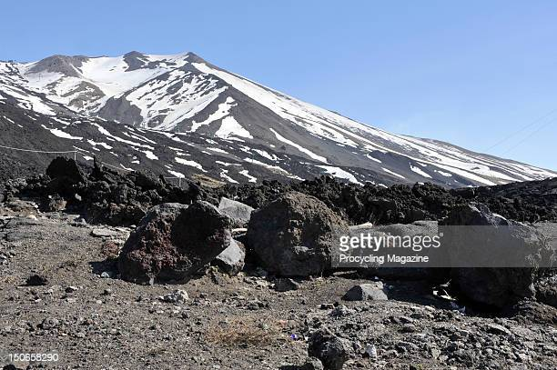 View from Mount Etna, Italy, April 13, 2011.
