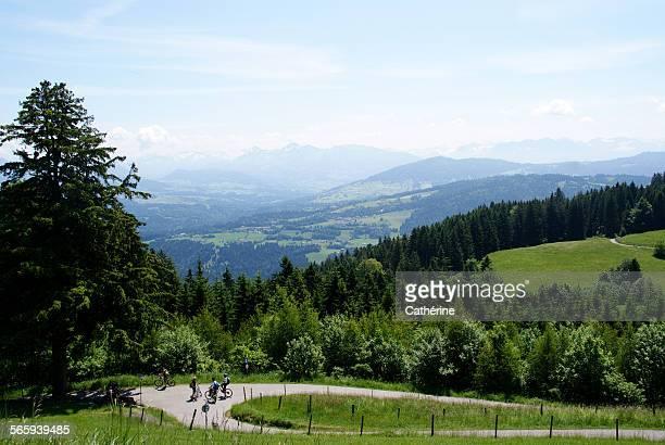 view from mount pfänder, bodensee - bodenmeer stockfoto's en -beelden