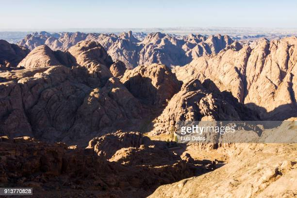 view from mount sinai - monte sinai imagens e fotografias de stock