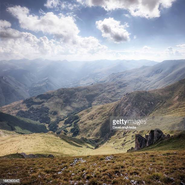view from mountain summit - macedonia country stock pictures, royalty-free photos & images