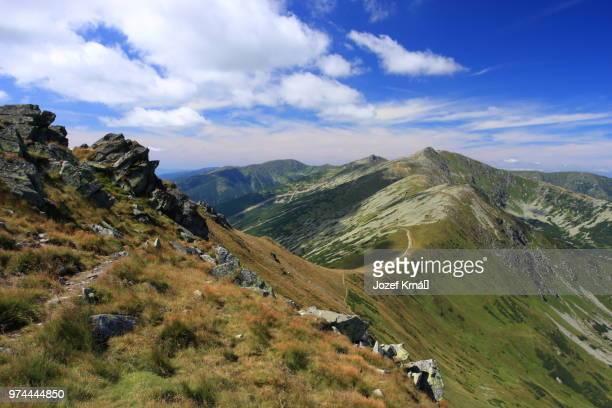 View from mountains peak, Krupova Hola, Low Tatras, Slovakia