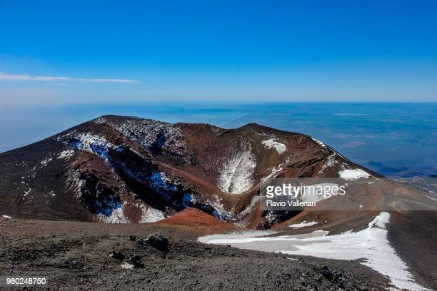view from mt etna (unesco world heritage site). parco dell'etna - etna park, sicily, italy - mt etna stock pictures, royalty-free photos & images