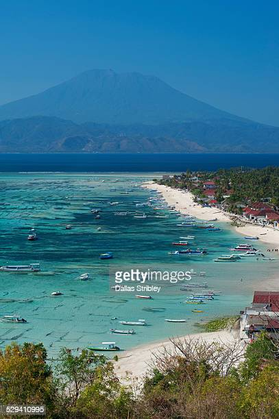 View from Nusa Lembongan to Bali's Mt Agung