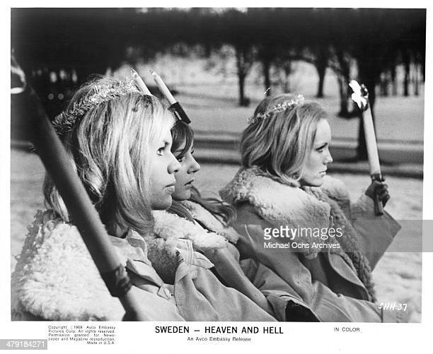A view from of the documentary movie Sweden Heaven and Hell circa 1968