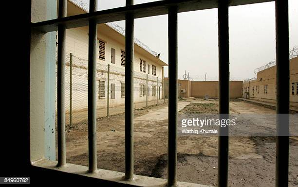 A view from one of the cells at the newly opened Baghdad Central Prison in Abu Ghraib on February 21 2009 in Baghdad Iraq The Iraqi Ministry of...