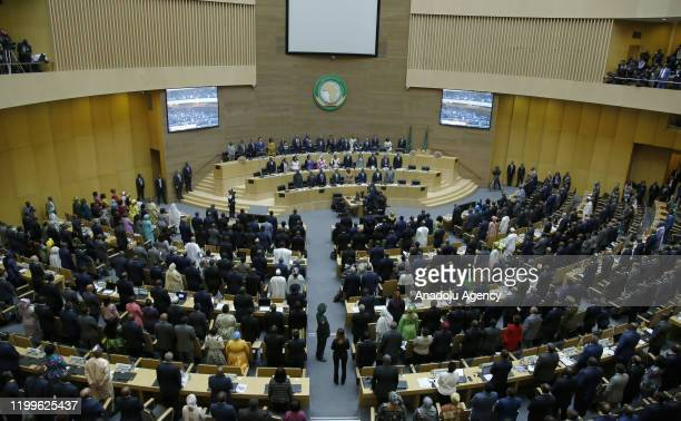 View from opening session of the 33rd African Union Heads of State Summit in Addis Ababa, Ethiopia on February 09, 2020. This year the summit...