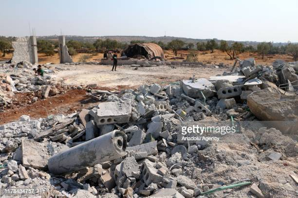 A view from operation area where allegedly Daesh leader Abu Bakr alBaghdadi killed in on October 27 2019 in northwestern Syria in Idlib Syria A US...