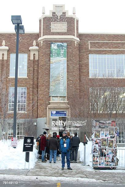 View from outside at a screening of Quid Pro Quo at the Library Theatre during the 2008 Sundance Film Festival on January 20 2008 in Park City Utah