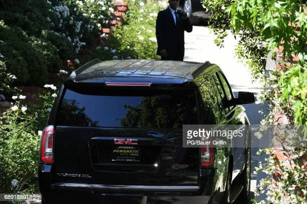 View from outside Miranda Kerr and Evan Spiegel's wedding on May 27 2017 in Los Angeles California