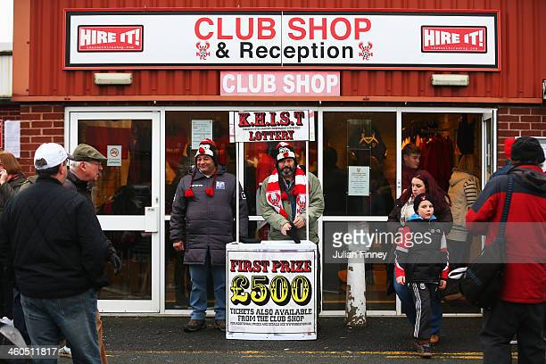View from outside the Club Shop prior to the Budweiser FA Cup third round match between Kidderminster Harriers and Peterborough United at Aggborough...