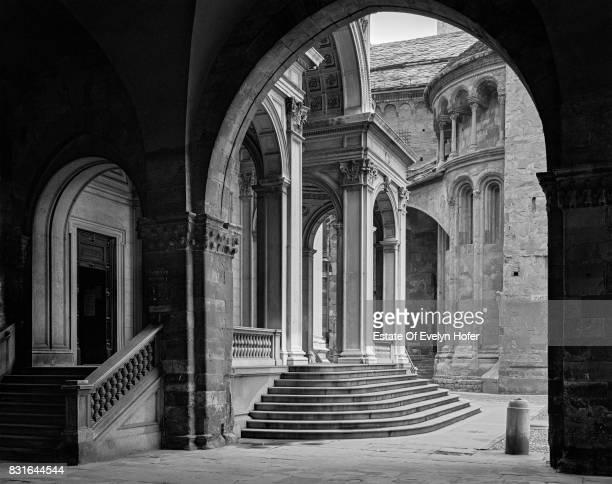 View from Palace della Ragione to Santa Maria Maggiore Bergamo 1977