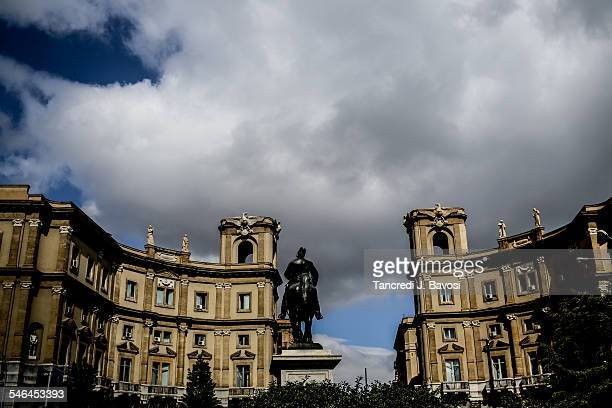view from palermo train station - bavosi stock pictures, royalty-free photos & images