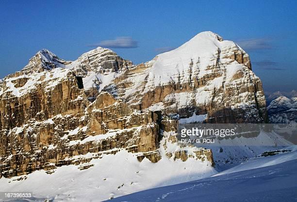 View from Piccolo Lagazuoi Dolomites Veneto Italy