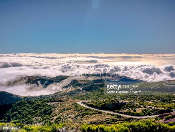 view from pico de arieiro. madeira island, portugal. - portugal stock pictures, royalty-free photos & images
