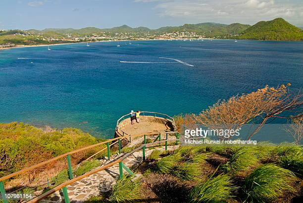 View from Pigeon Point down to Rodney Bay, St. Lucia, Windward Islands, West Indies, Caribbean, Central America