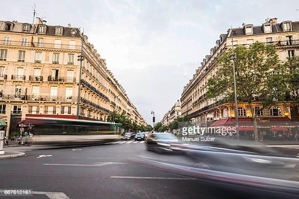 view from place de la republique, paris, france - place de la republique paris stock pictures, royalty-free photos & images