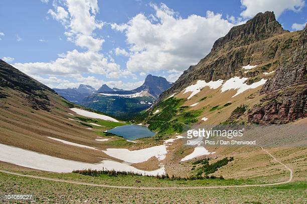 view from ptarmigan pass in glacier national park - dan sherwood photography stock pictures, royalty-free photos & images