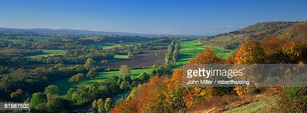 view from ranmore common, north downs, near dorking, surrey, england, united kingdom, europe - サリー州 ストックフォトと画像