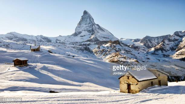 view from riffelberg, zermatt. - zermatt stock pictures, royalty-free photos & images