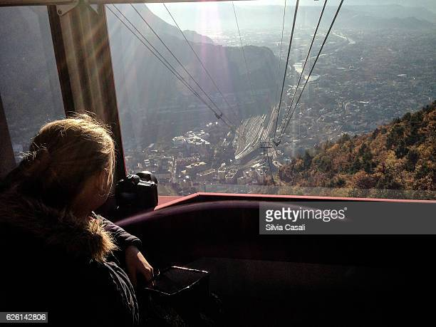 a view from ritten bozen/bolzano cable car - silvia casali stock pictures, royalty-free photos & images