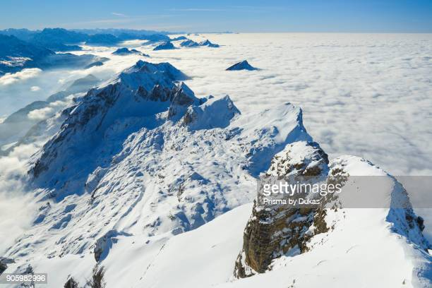 View from S_ntis Appenzell Switzerland