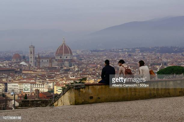 view from san miniato a monte, florence - san miniato stock pictures, royalty-free photos & images