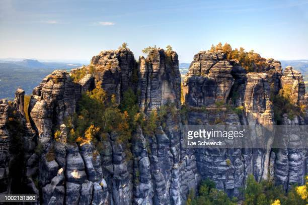 View from Schrammstein Range, Saxon Switzerland, Saxony, Germany