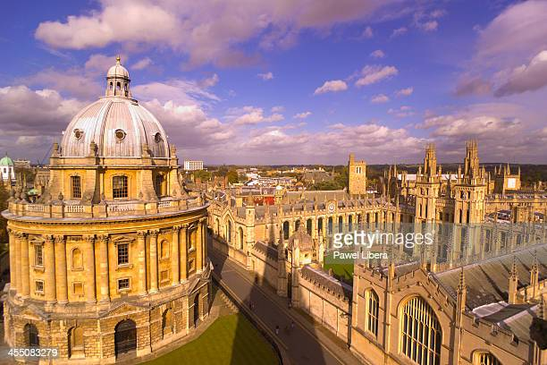 View from Sheldonian Theatre on Radcliffe Camera and All Souls College