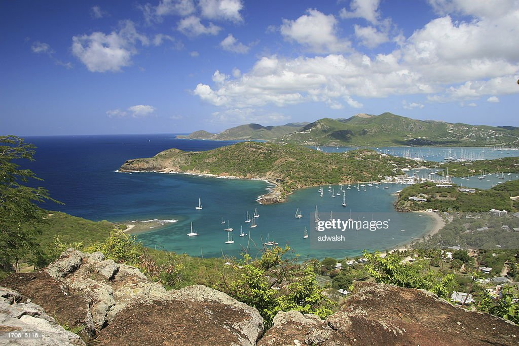 View from Shirley Heights Area of Antigua : Stock Photo
