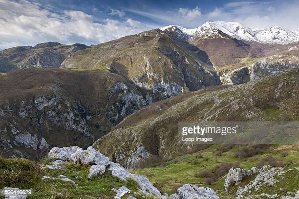 View from Sierra Cocon over Urdon valley in the Picos de Europa National Park