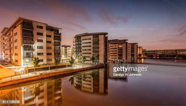 a view from sir steve redgrave bridge - woolwich stock pictures, royalty-free photos & images