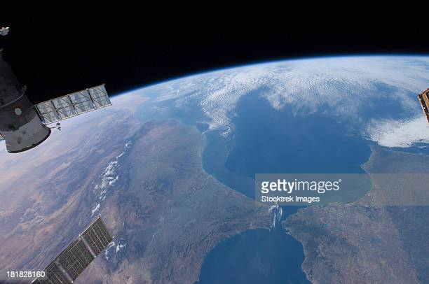 View from space of Morocco and Spain.