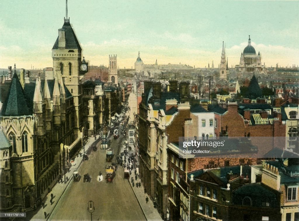 View From St Clement Danes Showing Law Courts : News Photo