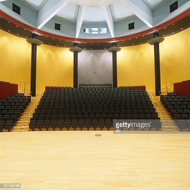 view from stage to empty audience seats - concert hall stock pictures, royalty-free photos & images