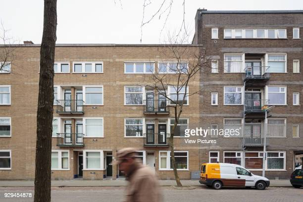 View from street Building design not by architect Cillershoek housing Rotterdam Netherlands Architect Studio LS 2015